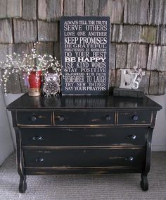 Black distressed Empire Dresser  I've got to find something like this!!!!!