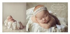 LOVE this crown headband from Birdie Baby Boutique and the basket garland is from OLDCHATEAU! So cute!