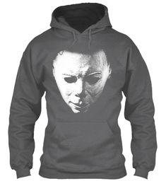 Perfect Halloween Shirt, Horror Costume Dark Heather T-Shirt Front Horror Shirts, Michaels Halloween, Halloween Sweatshirt, Michael Myers, T Shirt Costumes, Hoodies, Sweatshirts, Dark, Tees