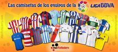 Nueva temporada de Liga BBVA 2014-15 y todos los equipos de la primera división del fútbol español tienen preparadas sus nuevas equipaciones.