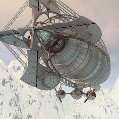 Airship. #steampunk #airship #steampunkart http://www.pinterest.com/TheHitman14/artwork-steampunked/