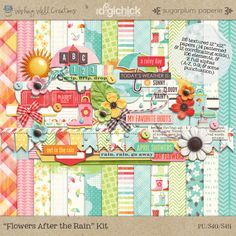 Flowers After the Rain Collab Kit by Sugarplum Paperie & Wishing Well Creations