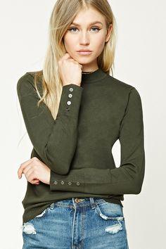High Neck Sweater Top