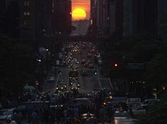 Impresionante puesta de sol, que paralizo Manhattan