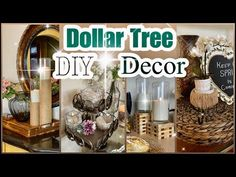 Dollar Tree DIY Room Decor and Home Decor Ideas! Vase, Candle holders, Tiered tray Let me know which idea is your favorite! Dollar Tree Decor, Dollar Tree Crafts, Tea Light Candles, Tea Lights, Crafts For Kids, Diy Crafts, Dollar Stores, Dollar Dollar, Dollar Bills