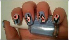 NOTD: Ikat Pattern Manicure
