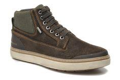 Nuevos zapatos deportivos Geox Amphibiox en una preciosa piel de nobuck engrasada.
