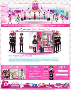 Girls Looking Cute originally had a simple website that wasn't girly enough and didn't appeal to her audience so we worked with her to come up with two different boutique designs -one for the homepage and regular pages and one for the boutique store pages.  http://girlslookingcute.com/
