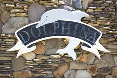DOLPHINA, #714 - Outer Banks Vacation Rental Home l Beach Cottage Signs l www.CarolinaDesigns.com Beach House Names, Beach House Signs, Beach Signs, Home Signs, Cottage Names, Cottage Signs, Outer Banks Vacation Rentals, Pine Island, Beach Cottages