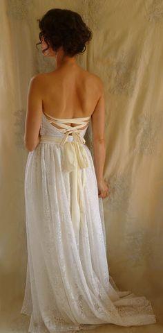 Custom Meadow Wedding Gown for Stephanie... boho von jadadreaming