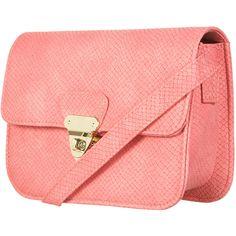 Snake Twist Lock Bag (905 EGP) ❤ liked on Polyvore featuring bags, handbags, bolsas, purses, bolsos, сумки, women, topshop purses, snake purse and turn lock purse
