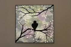 Original Abstract Acrylic Painting on Canvas by PicturesqueFolkart, $40.00