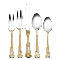 Royal Albert Old Country Roses Gold Cutlery brings classic charm to your dining table. Shop for gold cutlery at Tableking