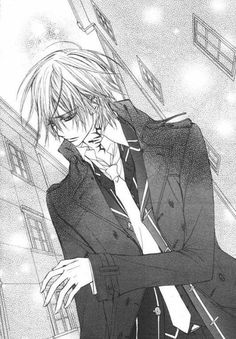 Vampire Knight... Zero I think... Is AMAZING! I LOVED HIM AND I THINK HE SHOULD HAVE BEEN WITH YUKI! THAT DARN KANAME!