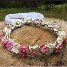 Brand new flower crown design listed in the shop this morning. Loving the rustic feel to this beauty . Accented with baby's breathe pearls and lace. All the good stuff! This crown will fit both adult or child so anyone can wear it!  Find it at  Dieselboutique.etsy.com  #bohobride #flowergirl #coachella #rustic #festival  #lace #flowercrowns #boho #bohemian #gypsy #hippie #romantic #babysbreath #flowercrown #pinkwedding #bohochic #rusticwedding #pearls #goodvibesonly #burlap #weddinginspo…
