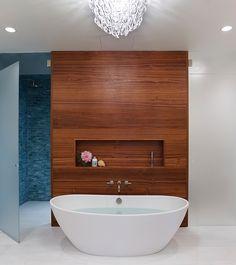 Another stunning bathroom design by StudioDB - NY! MTI award-winning Elise freestanding tub.