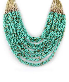 Look what I found on #zulily! Gold & Turquoise Bead Braid Necklace by MOA International Corp #zulilyfinds