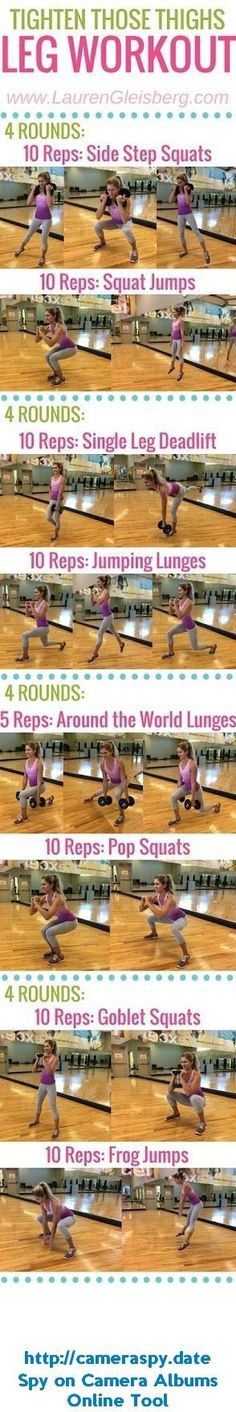 TIGHT THIGHS amp; BUTT LEG WORKOUT | click for more workouts to tighten and sculpt: Fitness Health, Health Fitness, Protein Drinks, Fitabulous Fall, Fitness Initiative, Fitness Calendar, Fitness Motivation, Fall Fitness