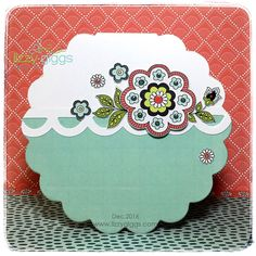 """This card was made with a die from AccuCut Detail cutting of Patterned Papers from """"Dare 2B Artzy"""""""