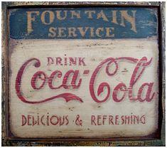 Ancienne affiche peinte à la main - affiche-pub by: Atelier du vieux
