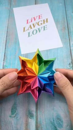 DIY - Rainbow Paper Star - A simple tutorial that shows you how to . - DIY – Rainbow Paper Star – A simple tutorial that shows you how to make a rainbow paper star. Kids Crafts, Diy Crafts Hacks, Diy Home Crafts, Diy Arts And Crafts, Creative Crafts, Craft Projects, Diy Crafts With Paper, Paper Flowers Craft, Paper Crafts Origami