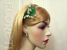 Lily of the Valley Bridal Headband White Romantic Wedding Accessory | Floreti - Wedding on ArtFire. $92.34