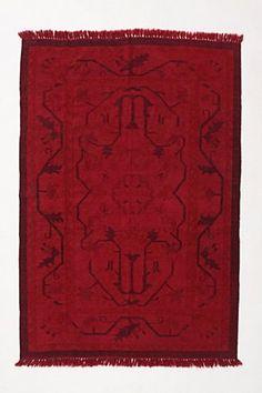 Deep red rug