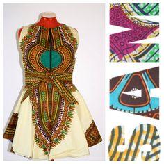 Dashiki Tribal Modern African Print Dress...I love this dress!