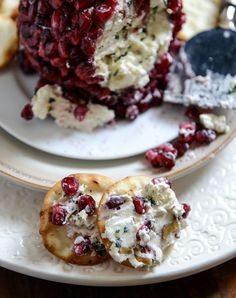 Pomegranate Jeweled White Cheddar, Toasted Almond and Crispy Sage Cheeseball I howsweeteats.com