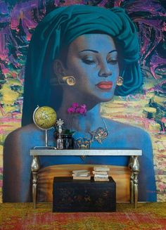 The Ideas magazine in South Africa did a very beautiful feature on Tretchikoff prints in modern interiors for their July 2013 issue.
