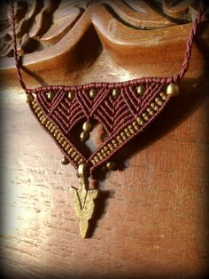 Triangle Tribal Arrow Macrame Necklace Amazon Woman by Kalajadoo