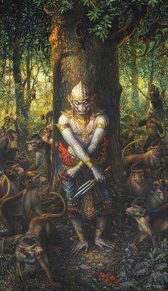 Kai Fine Art is an art website, shows painting and illustration works all over the world. Buddha Kunst, Buddha Art, Indian Gods, Indian Art, Traditional Paintings, Traditional Art, Arte Shiva, Cambodian Art, Cambodian Wedding