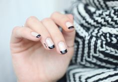 Black french with strass