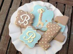 Giraffe & Number 1 Cookies