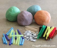 Playdough Bugs - some things to add to the play dough bucket...
