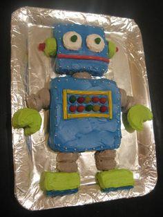 robot cake for Peter's birthday Boy Birthday Parties, Birthday Fun, Birthday Ideas, Birthday Cakes, Robot Cake, Party Mottos, Celebrate Good Times, Cakes For Boys, Celebration Cakes