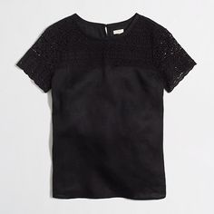 Factory Linen Lace Tee | J Crew