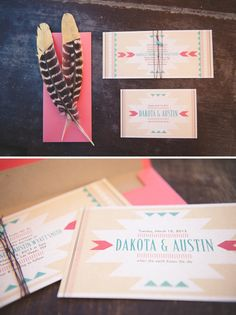 inspiration | mod desert wedding on Something Turquoise: Photography:  Bit of Ivory Photography // event planner: Green Orchid Events // invitations: The Girl Tyler: