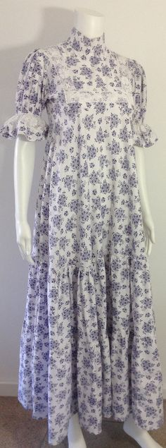 Early Laura Ashley Dress by MayCottagePrints on Etsy