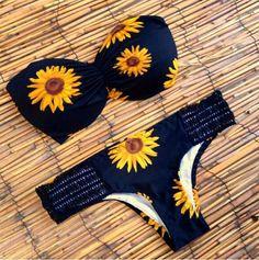 SEXY SUNFLOWER PATTERN BIKINI 4945268 via Luxedaze Bikini. Click on the image to see more!