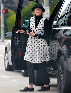 Write a Fashion Police Caption for Diane Keaton - Us magazine