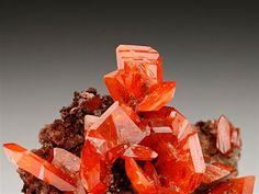 Wulfenite from Red Cloud Mine, Arizona. Crystal Classics Minerals
