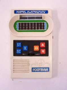 """Mattell Electronic Football.  I was so excited to get this when I was a kid.  It was """"state of the art"""".  Well, to me it was."""