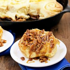 Pumpkin pecan sticky buns are perfect for a fall brunch!
