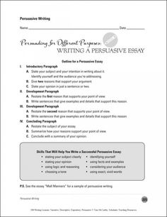 Human Resources Essay Persuasive Writing  Writing A Persuasive Essay English Essay My Best Friend also Examples Of Expository Essays For College Persuasive Writing Effective Feedback Checklist  Writing Class  Tips To Write An Argumentative Essay