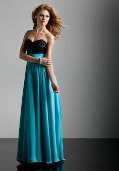 Sweetheart Sheath/ Column Chiffon With Beading Empire Dress For Prom - Lunadress.co.uk
