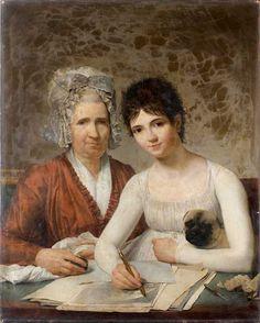 Books and Art: Portrait of Marie-Adrienne Rousseau (born c.1754),...