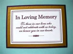 Image Search Results for wedding memory table