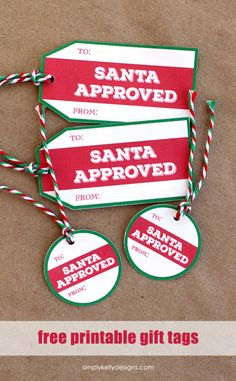 How to add christmas magic with santa gift tags santa gifts download these free printable santa approved christmas gift tags for the perfect finishing touch for your negle Choice Image