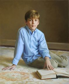 Wonderful portrait of a boy by a Portraits, Inc. artist